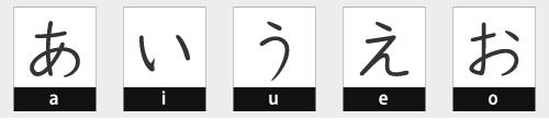 Hiragana Vowels